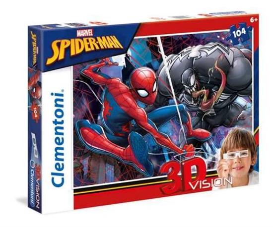 Clementoni Puzzle 104el 3D VISION Spider-Man 20148 (20148 CLEMENTONI)