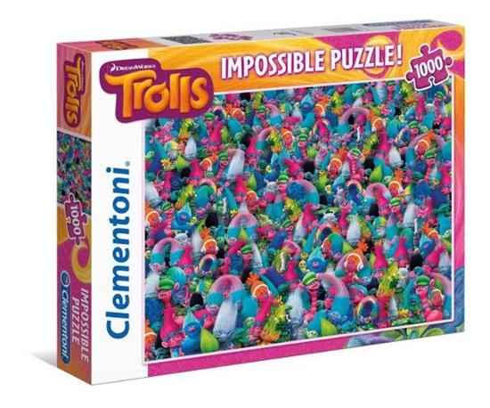 Clementoni Puzzle 1000el Impossible Trolls 39369 p6, cena za 1szt. (39369 CLEMENTONI)