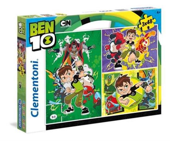Clementoni Puzzle 3x48el Ben 10 25225 p6, cena za 1szt. (25225 CLEMENTONI)