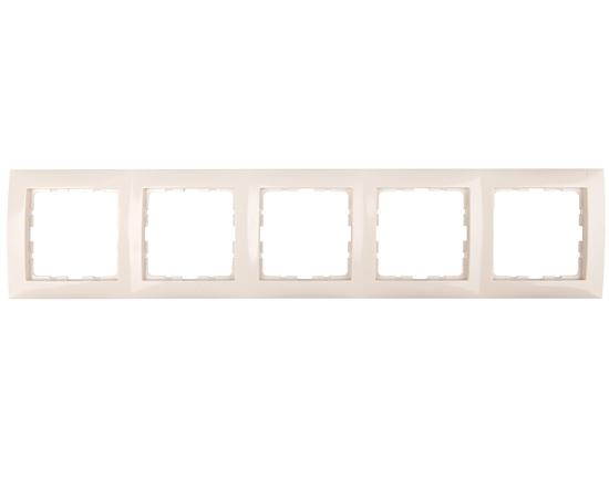 Berker/B.Kwadrat Ramka pięciokrotna kremowa 5310158982