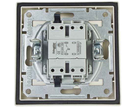 ASFORA Przycisk dzwonek IP44 kremowy EPH0800223