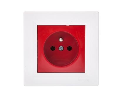 ASFORA Gniazdo pojedyncze z/u czerwono-białe EPH2800421