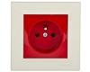 ASFORA Gniazdo pojedyncze z/u czerwono-kremowe EPH2800423