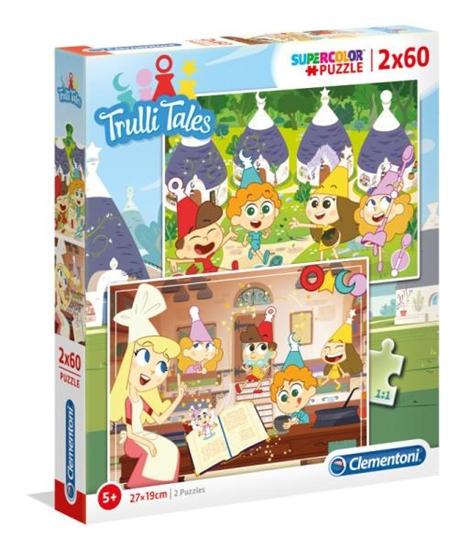 Clementoni Puzzle 2x60el SUPER KOLOR Słodkie opowieści 21606 p6 (21606 CLEMENTONI)