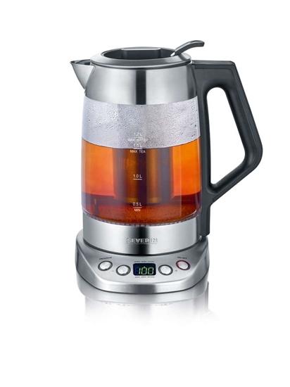 Szklany czajnik elektryczny do herbaty/wody Severin 3479 z wyświetlaczem