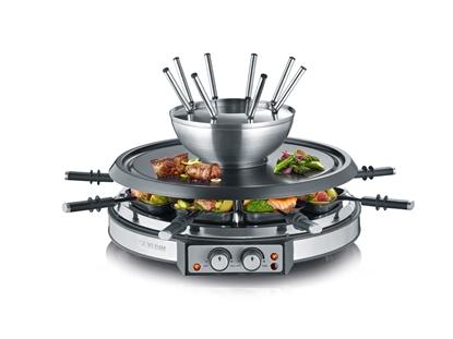 Grill raclette i  fondue SEVERIN 2348 ~8 PATELNI  2w1