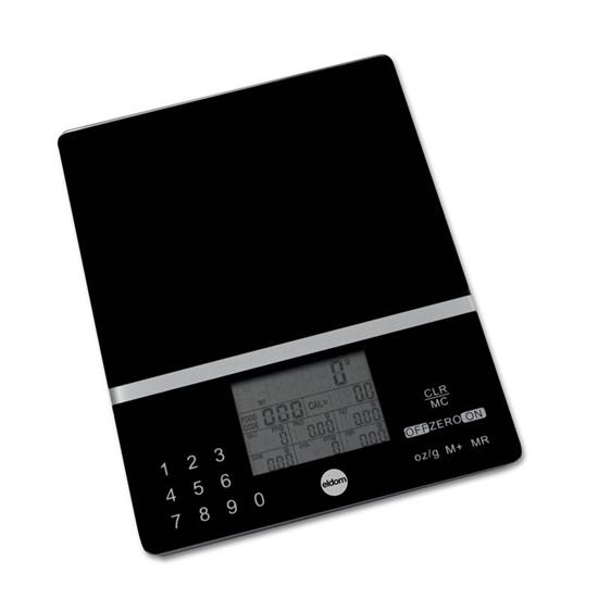 Waga kuchenna ELDOM DWK200 z pomiarem kalorii i cholesterolu dla 999 zaprogramowanych produktów