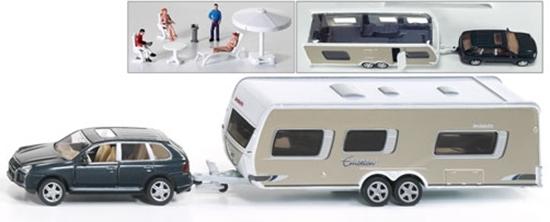 SIKU Samochód z przyczepą campingową (2542)