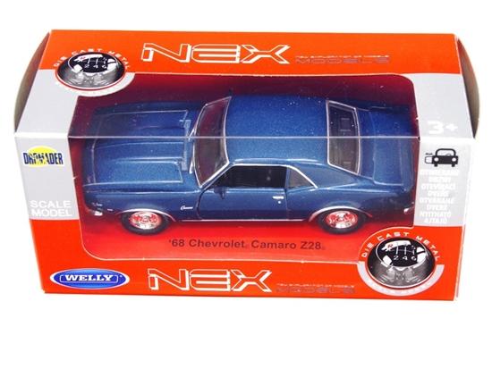 WELLY 1:34 Chevrolet '68 Camaro Z28 granatowy