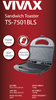 Opiekacz Toster Vivax TS-7501 BLS, Czarny,750W,NonStick,Inox
