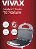 Opiekacz Toster Vivax TS-7503WH Biały,750W,NonStick,