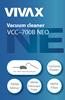 Odkurzacz cyklonowy Vivax VCC-700B, Hepa,KlasaA,MetalTuba