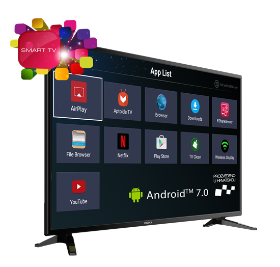 "TV LED 49""  Vivax 49S60T2S2SM ANDROID 8GB DVBT-T2,Wifi,A+"