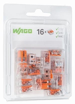 Szybkozłączka 2x0,2-4mm2 transparentna / pomarańczowa 221-412 /blister 16szt/ 221-412/996-016