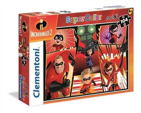 Puzzle 60el. Maxi Super kolor Incredibles 2 (23723 CLEMENTONI)