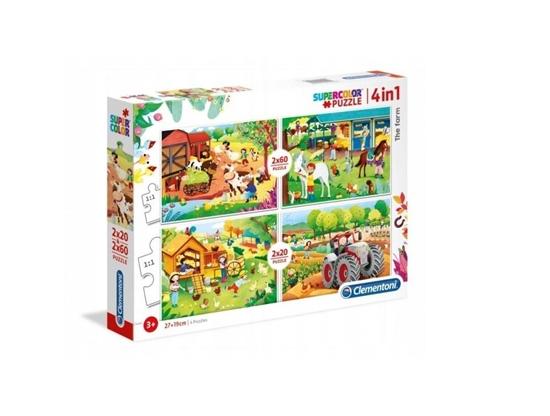 Puzzle 2x20 + 2x60 Super kolor The farm (21304 CLEMENTONI)