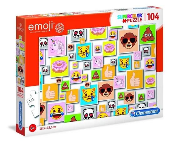 Puzzle 104 Super kolor Emoji (27285 CLEMENTONI)