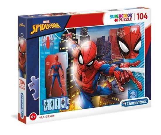 Puzzle 104 Super kolor Spiderman (27118 CLEMENTONI)