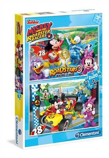 Puzzle 2x20 Mickey and the Roadster Racers (07034 CLEMENTONI)