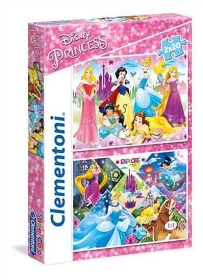 Puzzle 2x20 Princess (24751 CLEMENTONI)