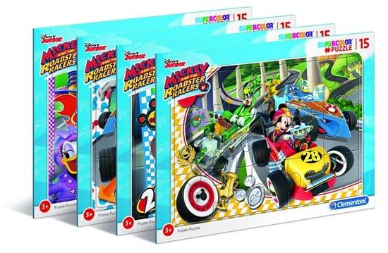 Puzzle ramkowe 15 Super kolor Mickey (22229 CLEMENTONI)