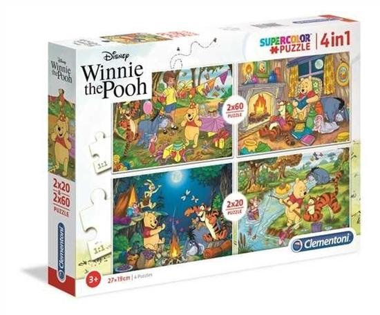 PUZZLE 2x20+2x60 Super kolor Winnie the Pooh (07618 CLEMENTONI)