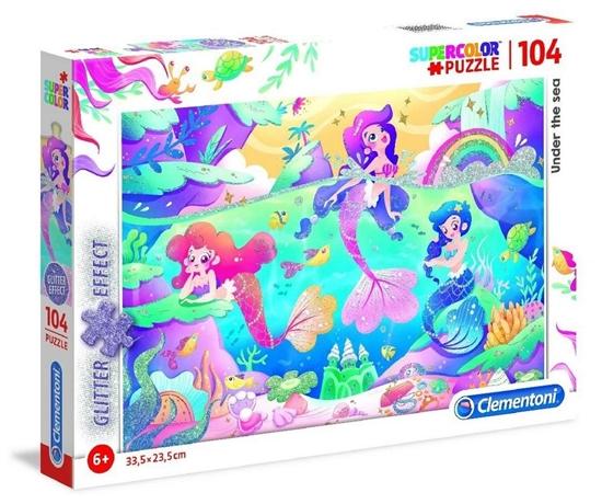 Puzzle 104 Brokat Under the Sea (20149 CLEMENTONI)