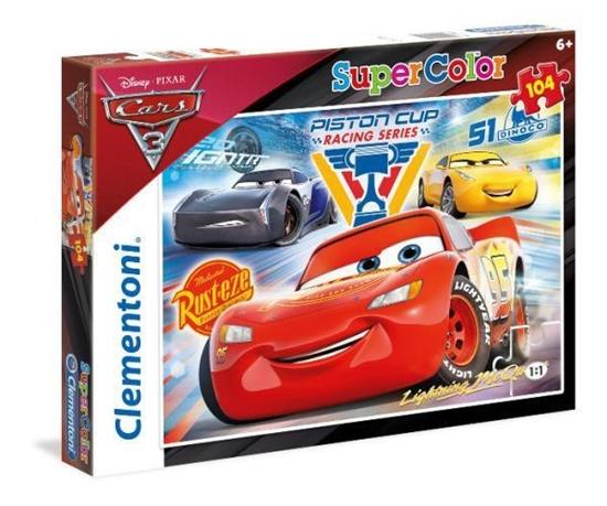 Puzzle 104 Superkolor Auta 3 (27072 CLEMENTONI)