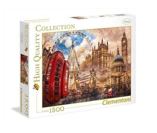 Puzzle 1500 Vintage London (31807 CLEMENTONI)