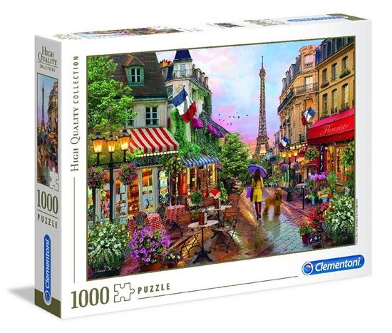 Puzzle 1000 HQ Flowers in Paris (39482 CLEMENTONI)
