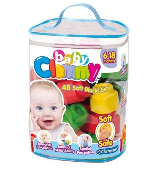 Clemmy Baby. Woreczek z 48 klockami (17134 CLEMENTONI)