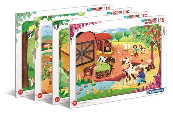 Puzzle ramkowe 15 Super kolor The Farm (22233 CLEMENTONI)