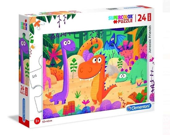 Puzzle 24 maxi Super kolor Jurassic friends (28506 CLEMENTONI)