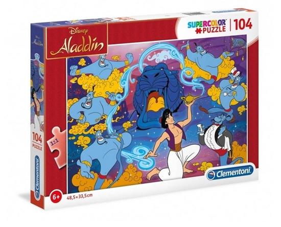 Puzzle 104 Super kolor Alladyn (27283 CLEMENTONI)