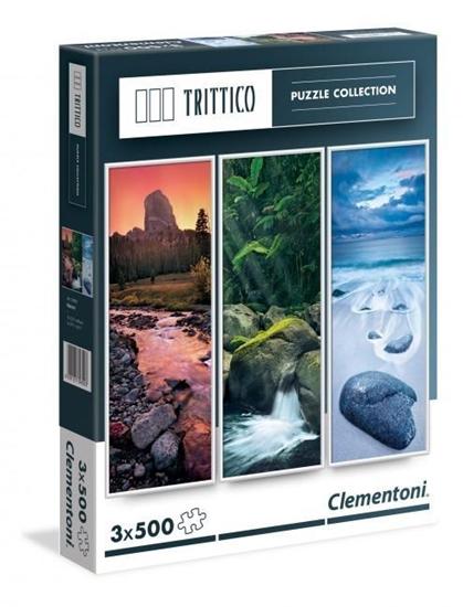 Puzzle 3x500 Trittico Nature (39800 CLEMENTONI)