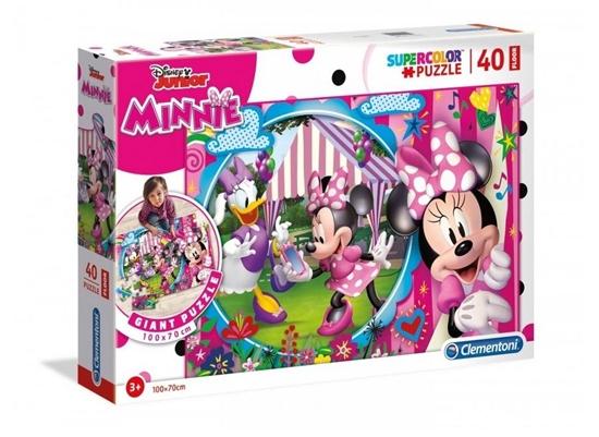 Puzzle 40 podłogowe Super kolor Minnie (25462 CLEMENTONI)