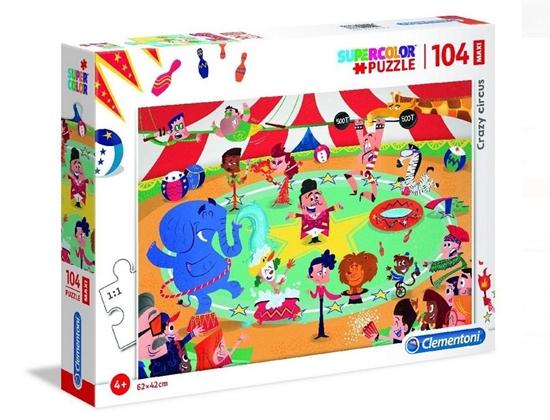 Puzzle 104 Maxi Szalony cyrk (23733 CLEMENTONI)