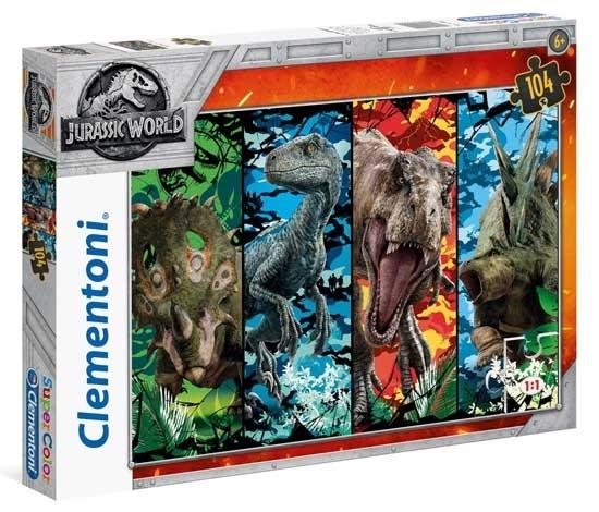 Puzzla 104 Supercolor Jurassic World (27099 CLEMENTONI)