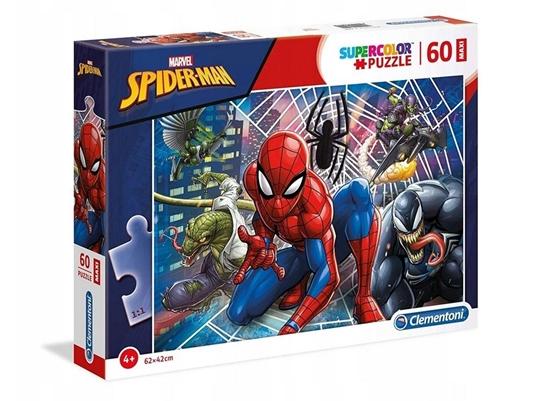 Puzzle 60 Maxi Super kolor Spiderman (26444 CLEMENTONI)
