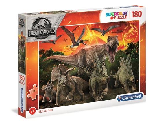 Puzzle 180 Super kolor Jurassic world (29299 CLEMENTONI)