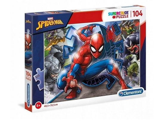 Puzzle 104 Super kolor Spiderman (27116 CLEMENTONI)