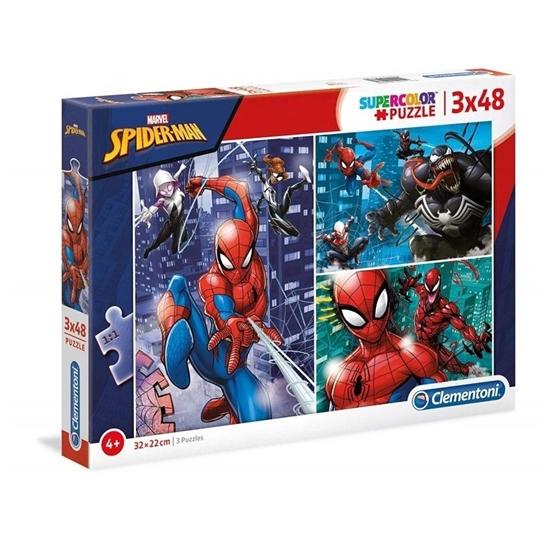 Puzzle 3x48 Super kolor Spiderman (25238 CLEMENTONI)