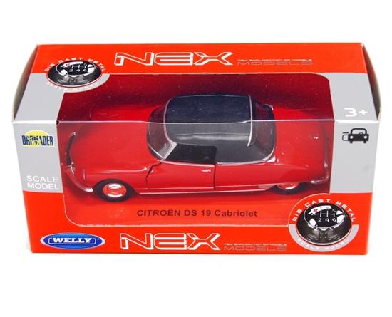 Welly 1:34 Citroen DS 19 - SOFT-TOP -czerwony