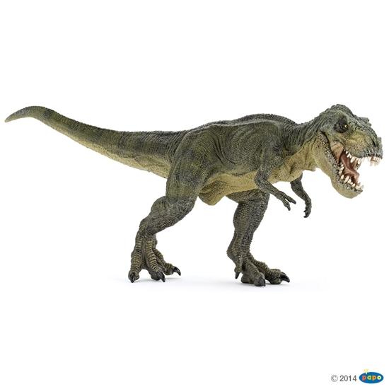 Papo T-rex biegnący zielony   31x9,6x12,5cm (55027)