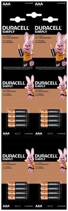 16 x bateria alkaliczna Duracell 4x4 LR03 AAA (blister)