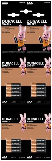 16 x bateria alkaliczna Duracell 4x4 LR03 AAA HDBC (blister)