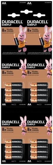 16 x bateria alkaliczna Duracell 4x4 LR6 AA HDBC (blister)