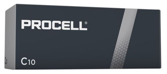 10 x bateria alkaliczna Duracell Procell LR14 C