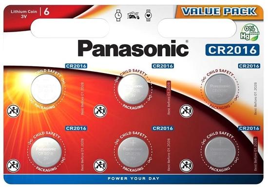 6 x bateria litowa mini Panasonic CR2016