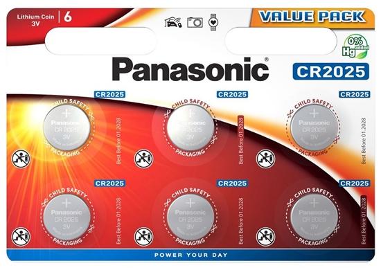 6 x bateria litowa mini Panasonic CR2025